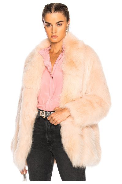 Sprung Nevis Coat in pink - Fur: 100% real dyed fox fur - Lining: 100% silk.  Made...