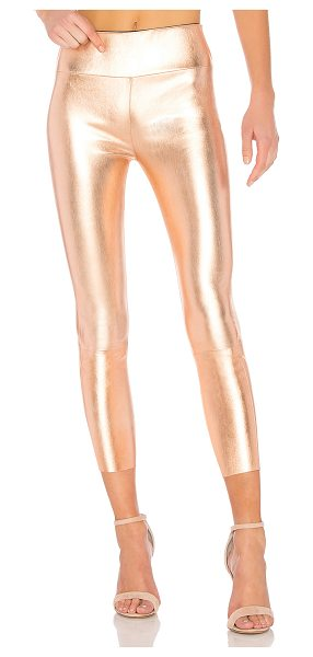 SPRWMN High Waist 3/4 Legging in metallic copper