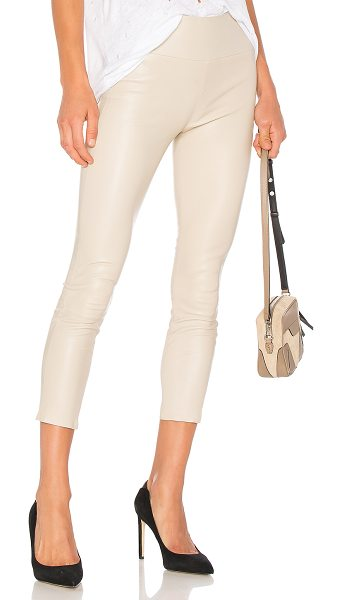 "SPRWMN High Waist 3/4 Legging in beige - ""Self: 100% lambContrast: 97% lycra 3% spandex. Dry..."