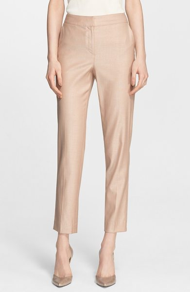 St. John emma straight leg suiting pants in classic beige - Lightweight stretch-wool pants in a fresh, versatile...