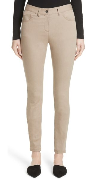 St. John slim stretch crop jeans in beige - A fresh and just-as-versatile alternative to basic...