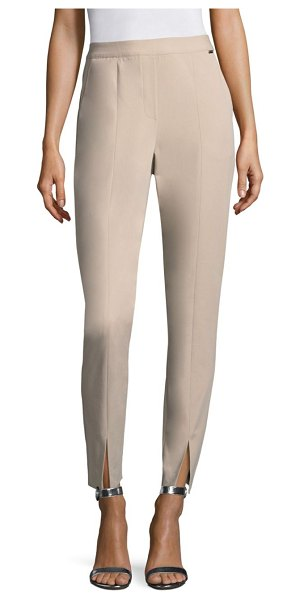 ST. JOHN cotton twill pants - On-trend stretch cotton twill pants featuring split details...