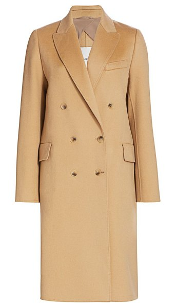 St. John double-breasted wool & cashmere coat in camel