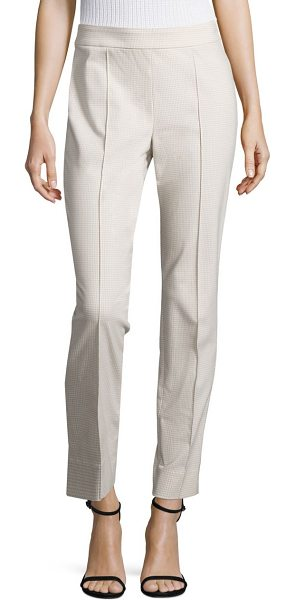 St. John emma stretch-cotton skinny pants in sand-multi - Slim, ankle-skimming silhouette tailored in stretch...