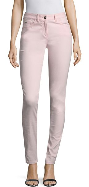 St. John stretch denim bardot jeans in blush - Classic fashion-fit jeans for a flattering silhouette....