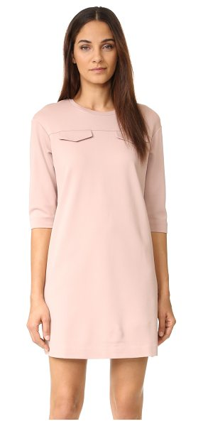 ST Olcay Gulsen a-line dress in pink - Flaps accent the front of this crew neck ST Olcay Gulsen...