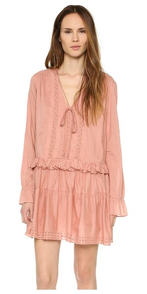 St. Roche Flora dress in terracotta - Pintucks and eyelet detailing lend a sweet feel to this...