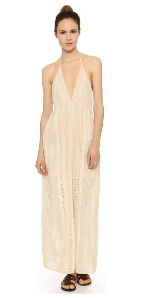 St. Roche Juniper maxi dress in cream - Pintucks and eyelet detailing lend a sweet feel to this...