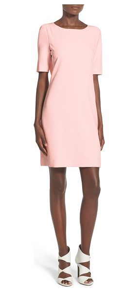 ST. studio back keyhole shift dress in blush pink - Perfectly polished and totally feminine, this...