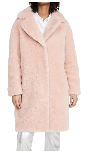 Stand Studio camille cocoon coat in pale blush