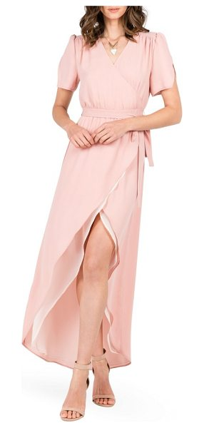 STANDARDS & PRACTICES robin wrap maxi dress - Notched tulip sleeves and a fluttery tulip hem enhance...