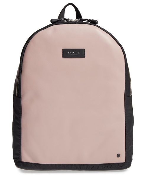 STATE Bags cass backpack in mauve/ black - Upgrade your street style with a roomy, clean-cut...