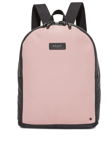 STATE cass backpack in mauve/black - For every STATE bag purchased, STATE hand-delivers a...