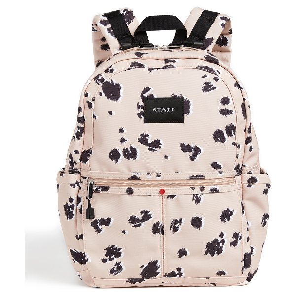 STATE kane backpack in natural animal - For every STATE bag purchased, STATE hand-delivers a...