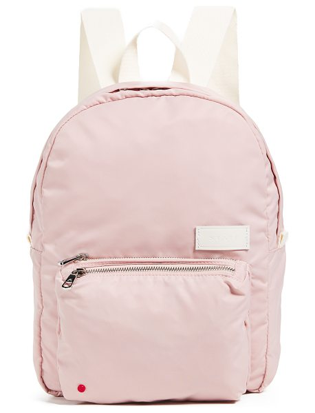 STATE mini lorimer backpack in rose - Fabric: Soft, sturdy nylon Hidden back pocket at base...