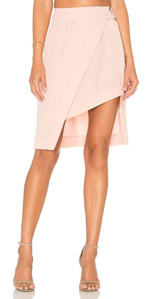 STATE OF BEING Layer Up Skirt in blush - 100% lyocell. Hand wash cold. Wrap front with side...