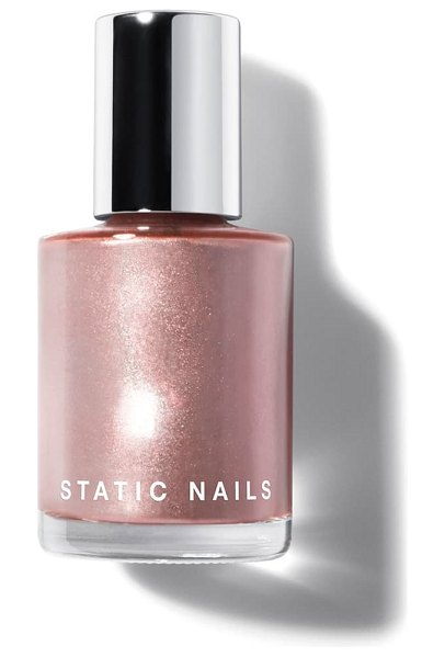 STATIC NAILS liquid glass nail lacquer in rose gold edit