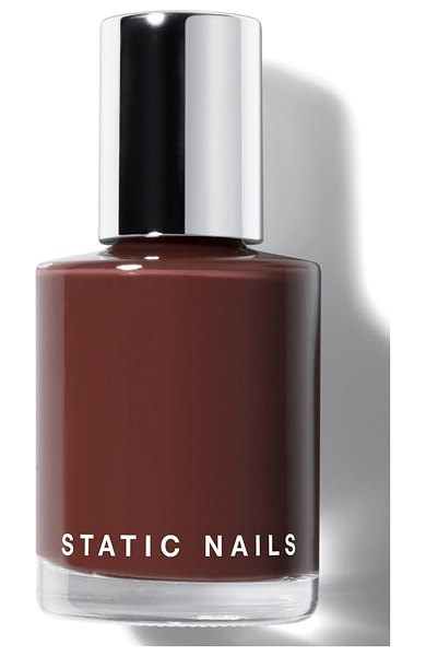 STATIC NAILS liquid glass nail lacquer in rich in chocolate
