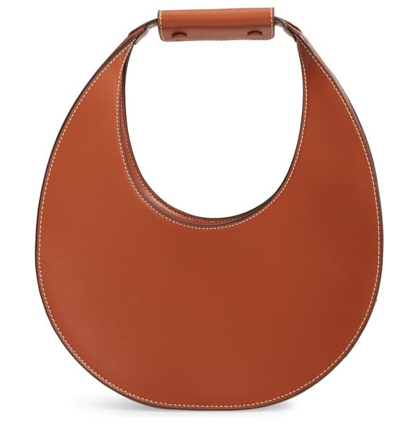 STAUD leather moon bag in brown