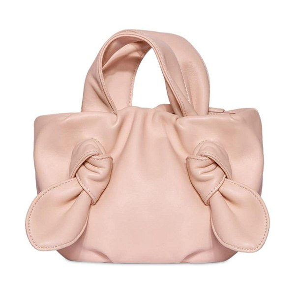 STAUD Ronnie leather top handle bag in blush