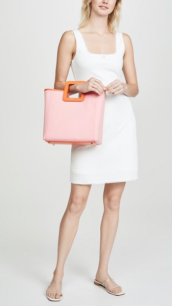 STAUD shirley bag in grapefruit/apricot