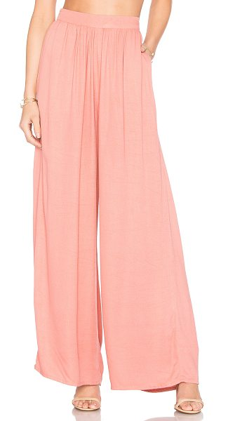 Steele Sydnee Pants in pink - Linen blend. Back hidden zipper closure. Side seam...