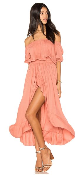 "Steele x REVOLVE Agatha Dress in pink - ""100% rayon. Elasticized neckline and arm openings...."