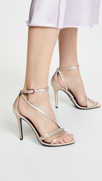 STELLA LUNA messy stone 105mm sandals in nude