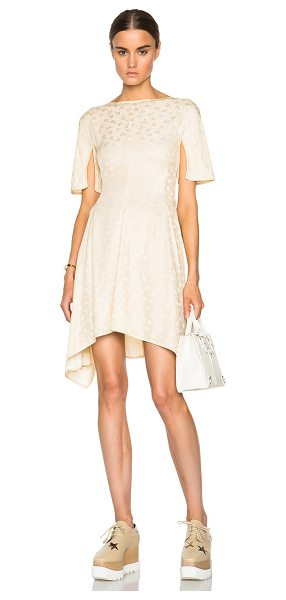 STELLA MCCARTNEY Ayana silk mix jacquard dress - 77% rayon 23% silk.  Made in Hungary.  Unlined. ...