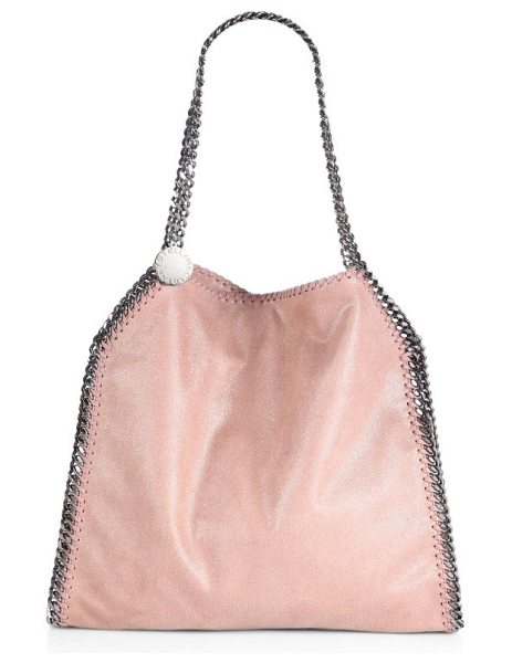 Stella McCartney Falabella baby bella shoulder bag in pink - A smaller version of the classic Falabella, in...