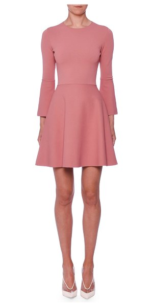 Stella McCartney Bell-Sleeve Fit-and-Flare Short Dress in pink