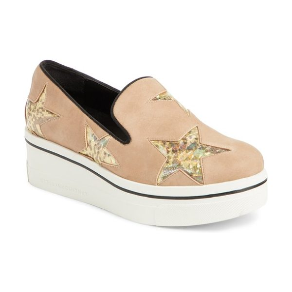 Stella McCartney binx star loafer in pink/ gold - Stella McCartney's trademark star motif appears on this...