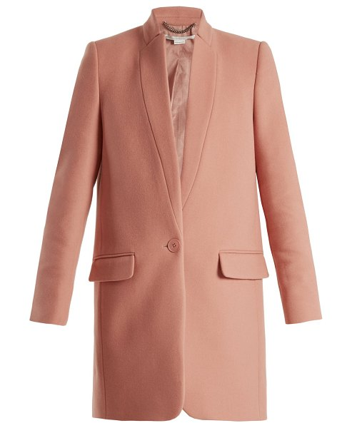Stella McCartney Bryce single-breasted wool-blend coat in light pink - Stella McCartney's hallmark Savile Row-inflected...