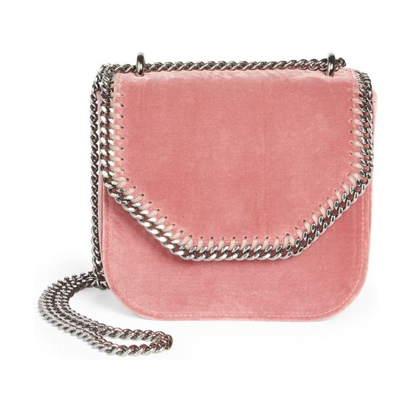 Stella McCartney chain-trim shoulder bag in rose - Shoulder bag featuring chain details in front. Chain...