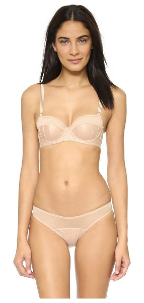 STELLA MCCARTNEY cherie sneezing contour balconnet bra - Pintucked satin lends a sweet, yet sexy feel to this...