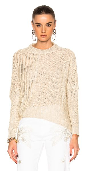 STELLA MCCARTNEY Chunky Stitch Sweater - 100% linen. Made in Italy. Dry clean only. Knit fabric....