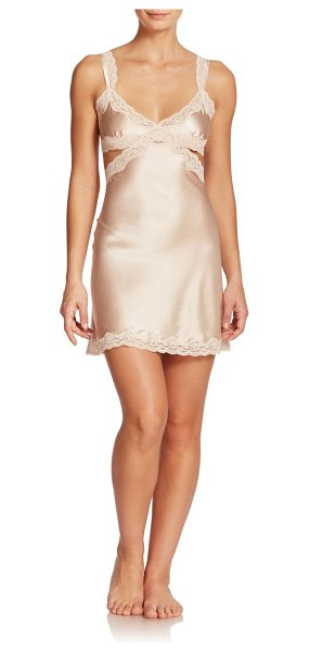 Stella McCartney Clara whispering stretch silk chemise in fadedpink