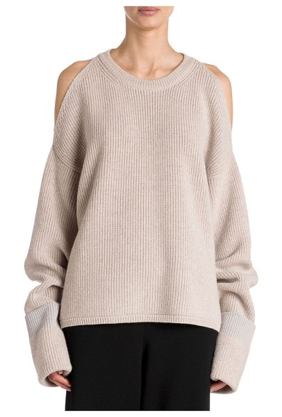 In Bone Saks Mccartney Stella List Cold Ribbed It The Putting Shoulder Sweater From aTUTFwpq