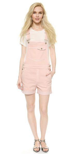 Stella McCartney Denim overall shorts in light pink - A delicate hue lends a feminine touch to relaxed Stella...
