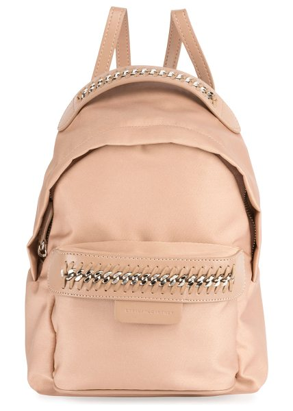 "Stella McCartney Eco Nylon Falabella Go Backpack in light pink - Stella McCartney eco nylon ""Falabella Go"" backpack...."