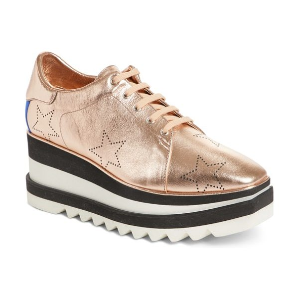 STELLA MCCARTNEY elyse platform sneaker - Perforated stars add to the signature style of a...
