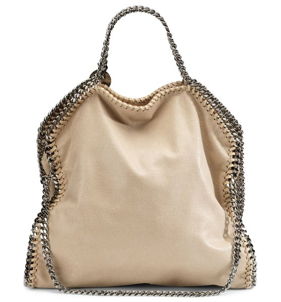 Stella McCartney falabella shaggy deer tote in clotted cream