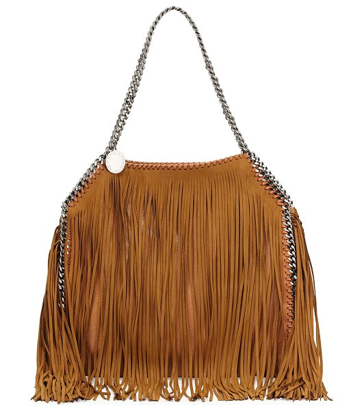 Stella McCartney Falabella Small Fringe Tote in tan - Stella McCartney faux-leather (polyester) tote bag with...