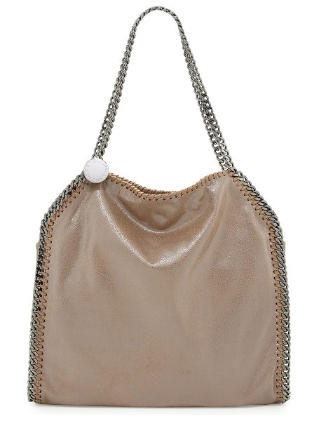 Stella McCartney Falabella Small Tote in blush - Stella McCartney faux-leather (polyester) tote bag....
