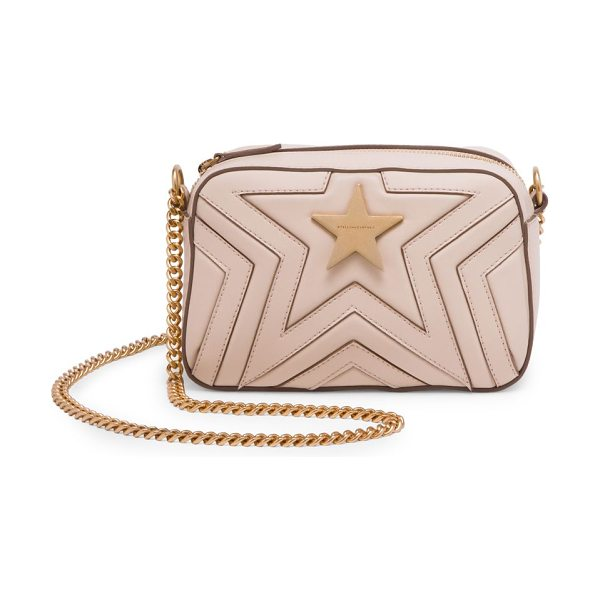Stella McCartney faux leather mini star crossbody bag in beige