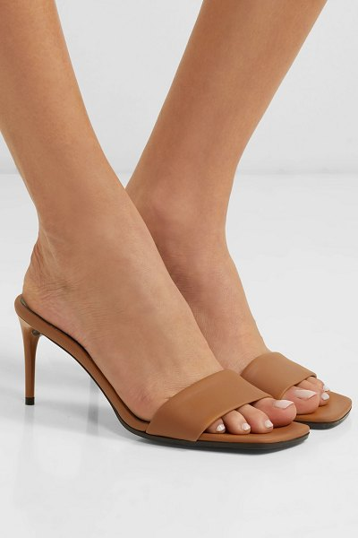 Stella McCartney faux leather mules in tan - EXCLUSIVE AT NET-A-PORTER. With '90s-inspired shoes...