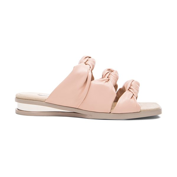 Stella McCartney Knot faux leather sandals in pink,neutrals