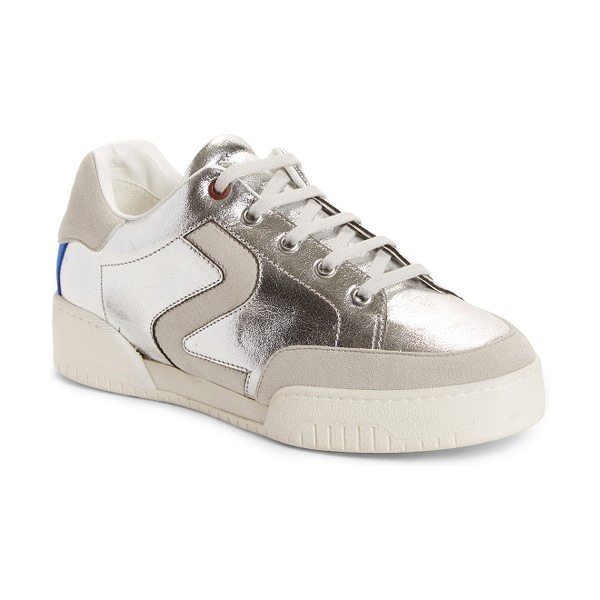 STELLA MCCARTNEY logo sneaker - A subtle logo detail at the color-blocked counter adds...