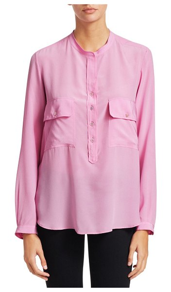Stella McCartney long sleeve half button-down blouse in rose