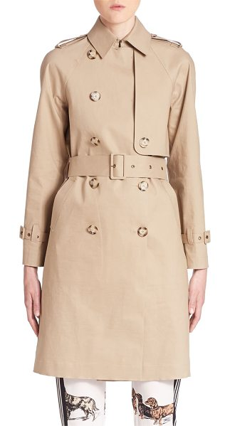 STELLA MCCARTNEY macintosh cotton trench coat - Classic trench crafted in Italian cotton. Point collar....